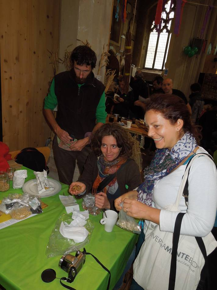 BBA at London Free Seed Festival, Garden Museum, Lambeth Place with Italian colleagues - 12:47pm&nbsp;12<sup>th</sup>&nbsp;Oct.&nbsp;'14