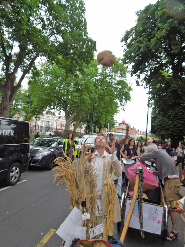 windmill loaf in flight - Brixton Windmill parade and festival 2013 - 1:04pm&nbsp;21<sup>st</sup>&nbsp;Jun.&nbsp;'13