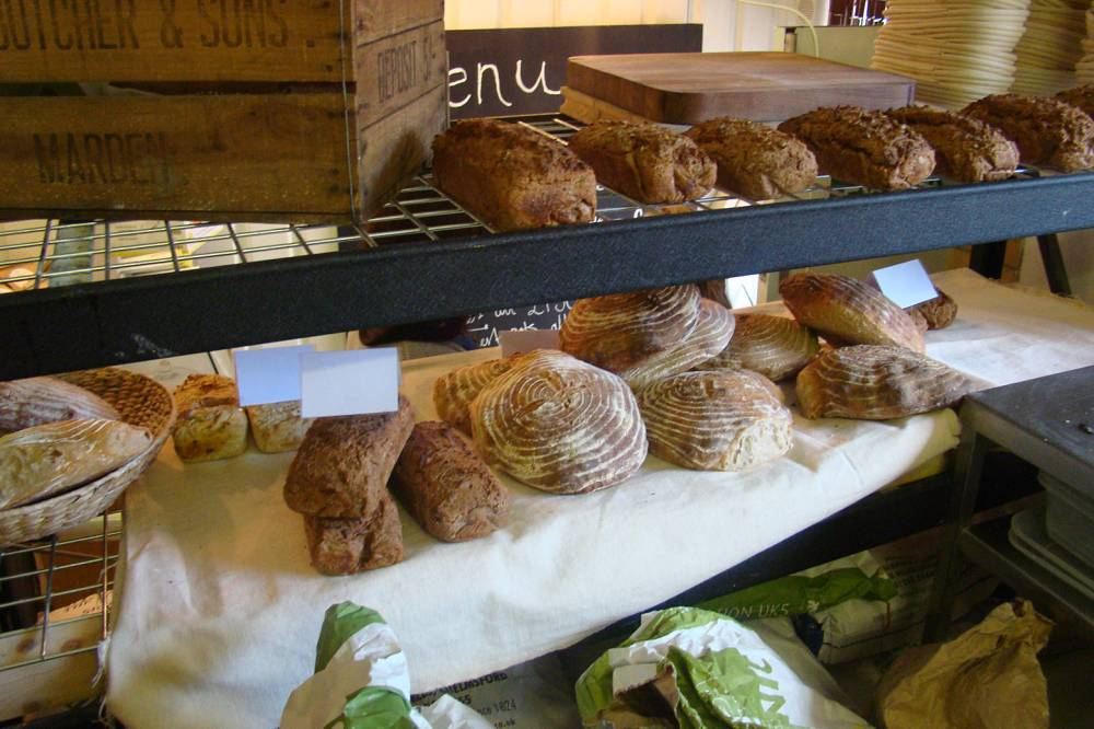 visit to Ben's E5 baker, Hackney - bread on show!