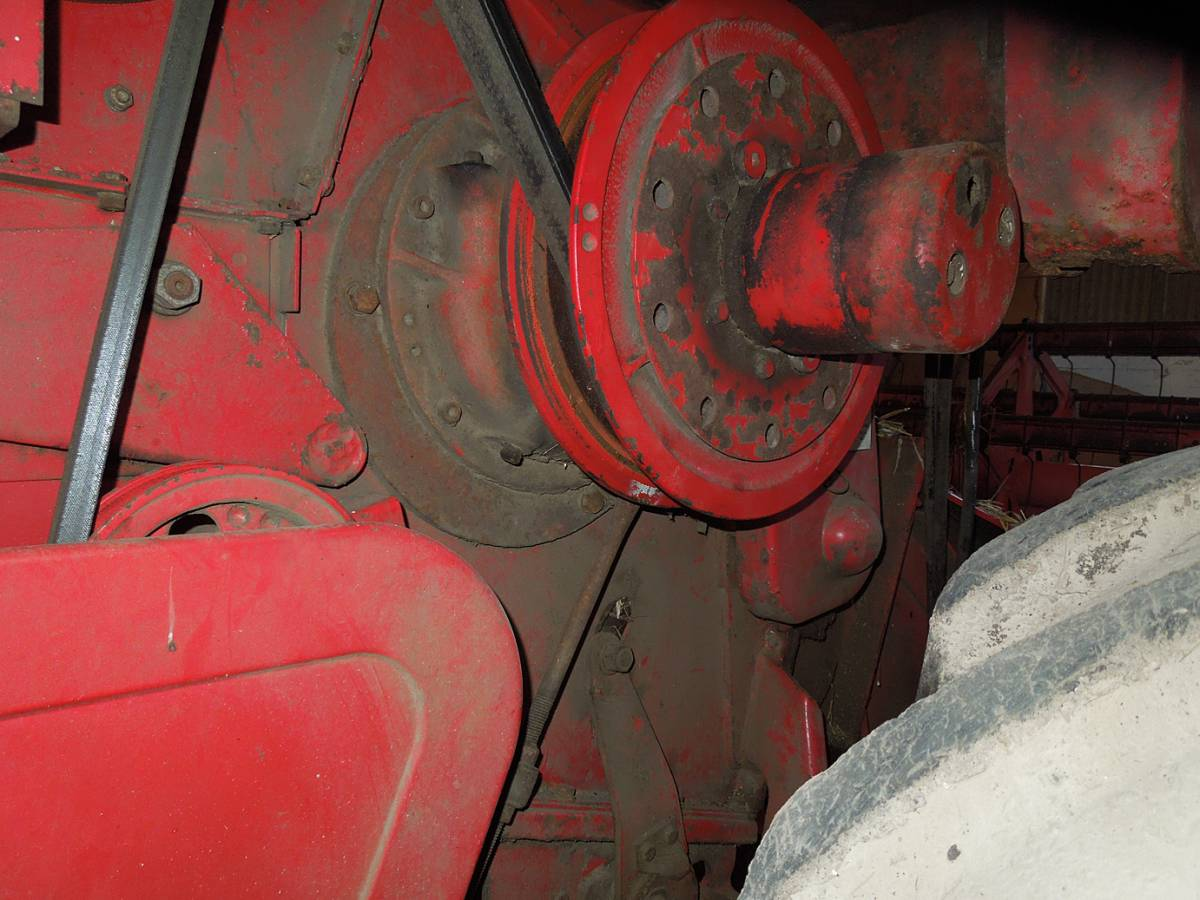 variable speed pulley on drum, WoWo final harvest 2013 - 10:07am&nbsp;4<sup>th</sup>&nbsp;Sep.&nbsp;'13