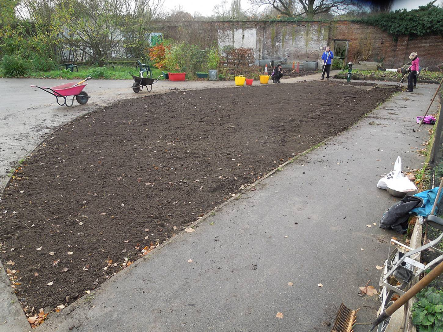 sowing at the <A href='http://www.brockwellgreenhouses.org.uk/welcome/' target=_blank>Brockwell Community Greenhouses</a> - 1:04pm&nbsp;26<sup>th</sup>&nbsp;Nov.&nbsp;'15