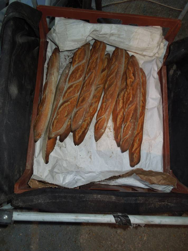 baguettes from best couche cloth £5 per m. from Simply Fabrics, Brixton - 8:00am&nbsp;21<sup>st</sup>&nbsp;Aug.&nbsp;'14