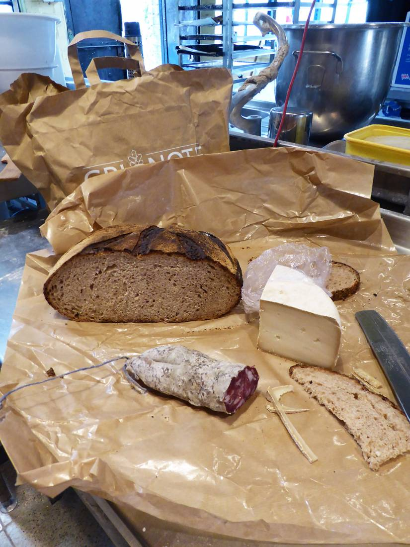 <a href='https://www.facebook.com/grignotetoulouse/' target='_blank'>Grignote</a> loaf made with <a href='https://www.facebook.com/paysanbio.semencespaysannes' target='_blank'>Phillipe</a>'s flour back at <a href='https://www.facebook.com/cablebakery/' target='_blank'>Cable Bakery</a> London for tasting from France, May '17 - 12:26pm&nbsp;23<sup>rd</sup>&nbsp;May.&nbsp;'17