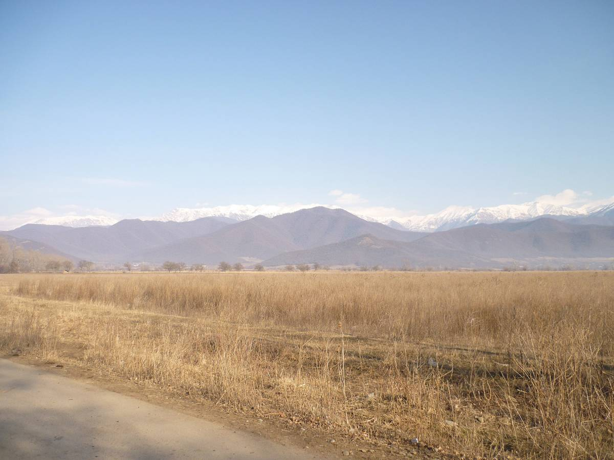 Where the Tsiteli Doli wheat comes from, Jean-Jaques farm in the shadow of the Caucasus mountains - 12:13pm&nbsp;9<sup>th</sup>&nbsp;Jan.&nbsp;'12