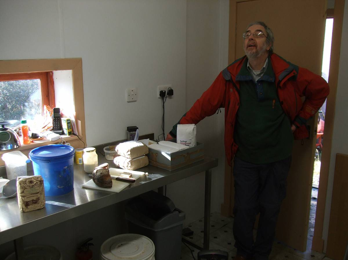 LLD forum 2012, Strathpeffer, Gordon Gallacher in his micro-bakery - 11:20am&nbsp;9<sup>th</sup>&nbsp;Mar.&nbsp;'12