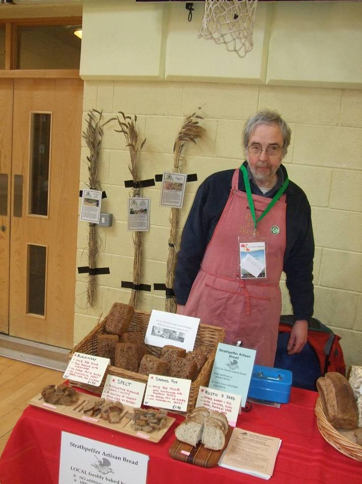 LLD forum 2012, Strathpeffer, Gordon on BBA and baking stall, Crofters Fair - 2:06pm&nbsp;10<sup>th</sup>&nbsp;Mar.&nbsp;'12