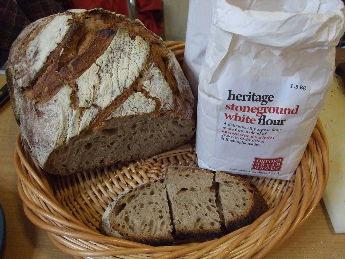 LLD forum 2012, Strathpeffer, BBA and baking stall, Crofters Fair, Letts Heritage Flour loaf - 2:07pm&nbsp;10<sup>th</sup>&nbsp;Mar.&nbsp;'12