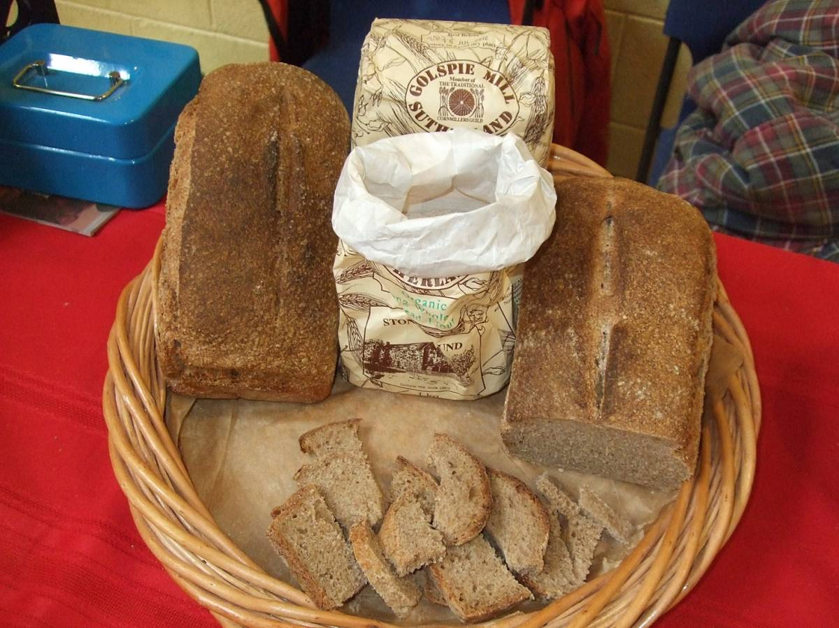 LLD forum 2012, Strathpeffer, BBA and baking stall, Crofters Fair, Golspie Mill wholemeal flour - 2:07pm&nbsp;10<sup>th</sup>&nbsp;Mar.&nbsp;'12