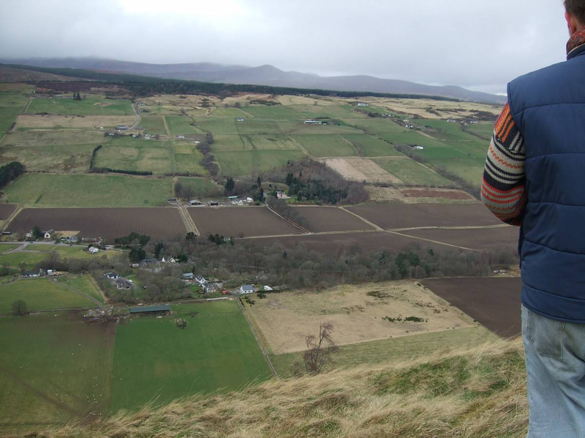 LLD forum 2012, Strathpeffer, on walk with Adam from Organiclea over to hill fort - 4:50pm&nbsp;11<sup>th</sup>&nbsp;Mar.&nbsp;'12