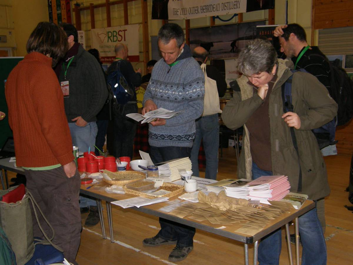 LLD forum 2012, Strathpeffer, Donald on Irish Seed Savers stall, Crofters Fair - 2:28pm&nbsp;10<sup>th</sup>&nbsp;Mar.&nbsp;'12