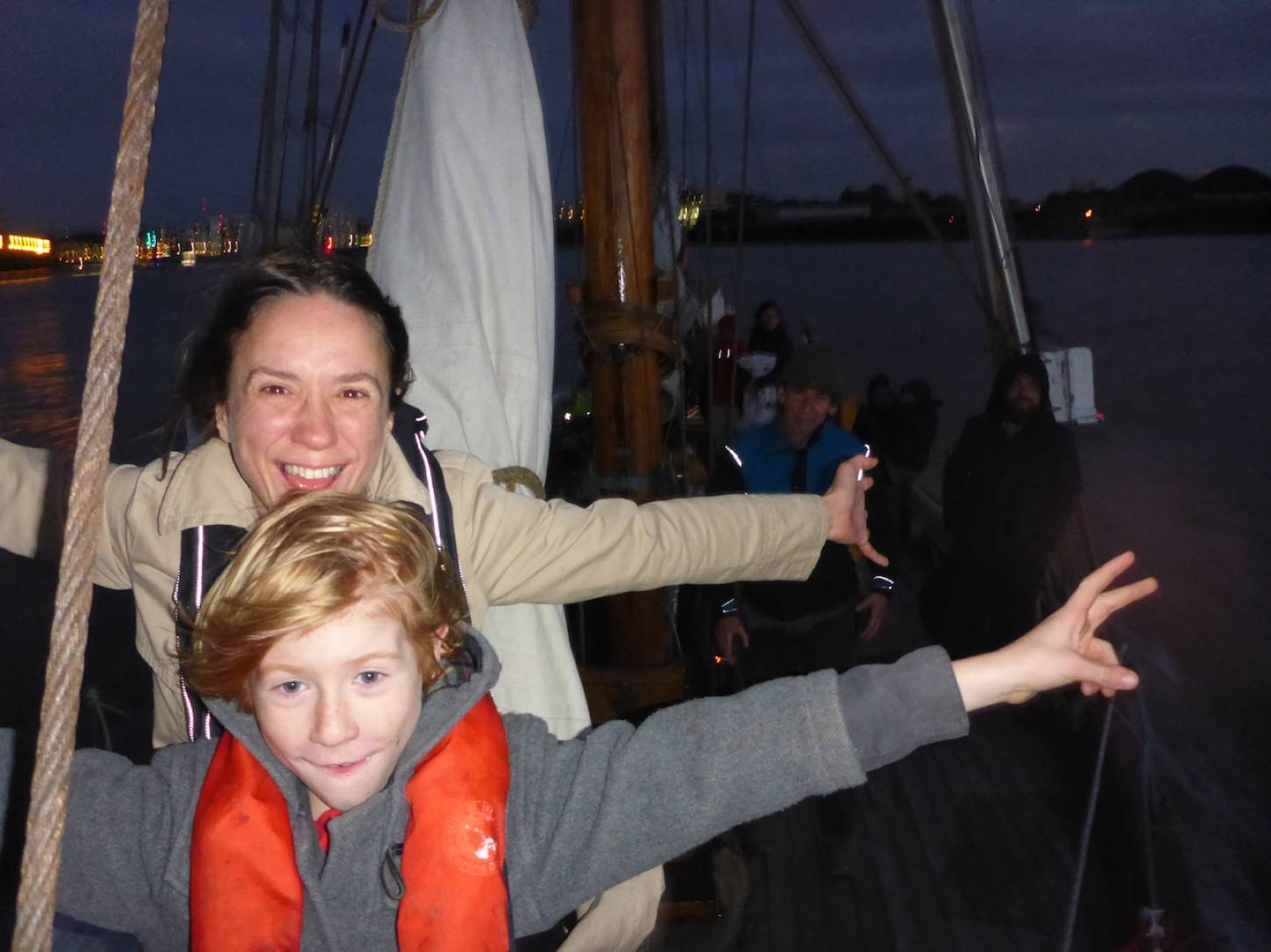 on Gravesend to Port of London leg of <a href='http://https://www.facebook.com/theseedjourney/' target='_blank'>Seed Journey</a> adventure aboard the <a href='http://www.classicboat.co.uk/articles/christiana-from-shipwreck-to-sailing/' target='_blank'>RS10 Christiana</a> 1895 Norwegian Colin Archer rescue boat - we are sailing - 8:32pm&nbsp;29<sup>th</sup>&nbsp;Sep.&nbsp;'16