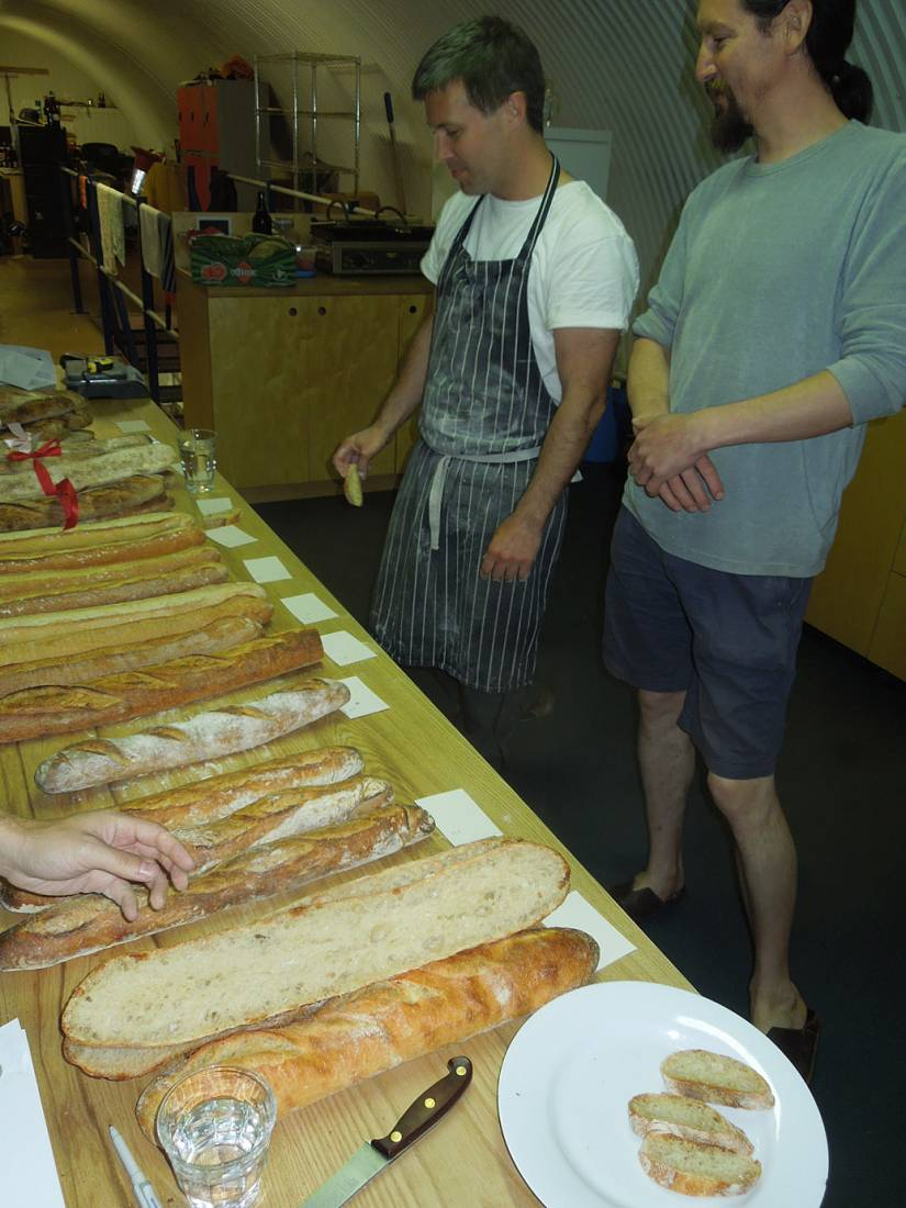 Adam from <a href='http://https://lbpedlar.com/' target='_blank'>Little Bread Pedlar</a> with Evin for the baguette parade for <a href='http://www.sagardi.com/' target='_blank'>Sagardi London</a> at <a href='http://www.thekernelbrewery.com/' target='_blank'>Kernel brewery</a> - 1:00pm&nbsp;6<sup>th</sup>&nbsp;Jun.&nbsp;'16