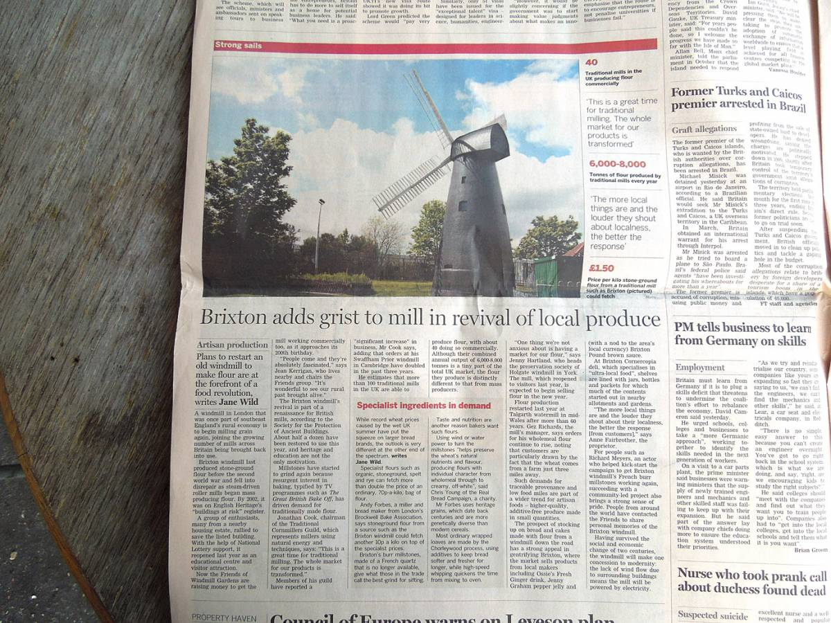 FT Brixton Windmill article, Dec. 8th 2012 - 2:58pm&nbsp;8<sup>th</sup>&nbsp;Dec.&nbsp;'12